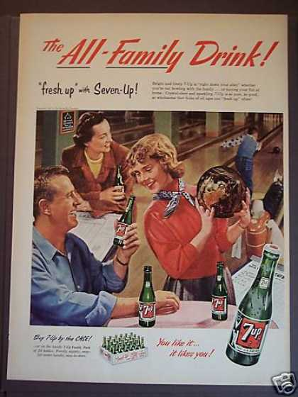 7-up Seven-up Soda Family Bowling (1953)