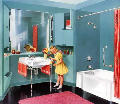 Cosmopolitan Bench Bath, Jamestown Lavatory 			Kohler of Kohler (1950)