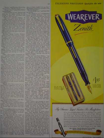Wearever Zenith Pen AND Fram Oil Filters (1946)