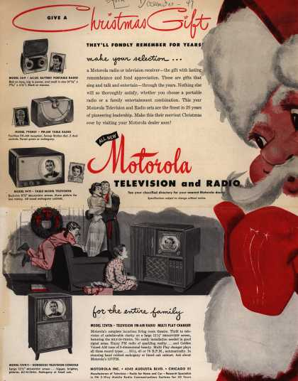 Motorola's Television – Give a Christmas Gift (1949)