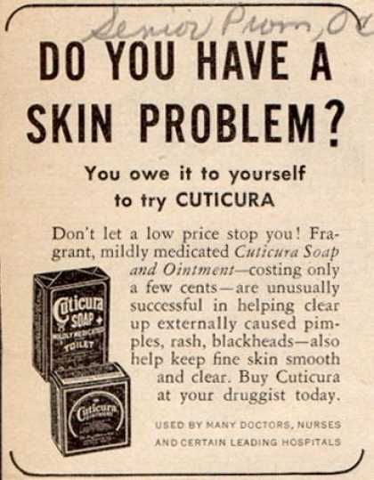 Cuticura – Do You Have A Skin Problem? (1950)