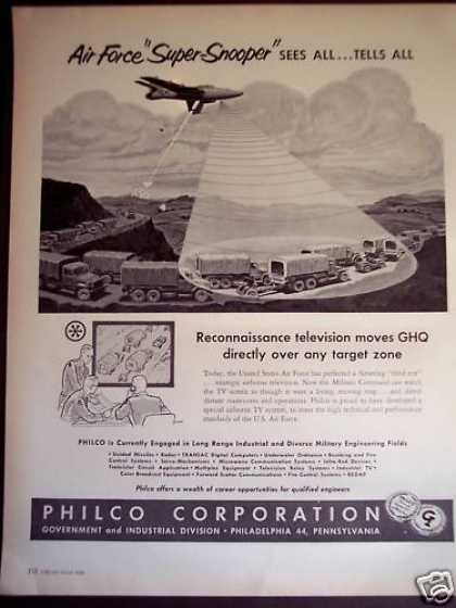 Philco Special Airborne Tv System for Air Force (1956)