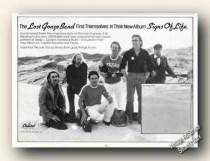 Lost Gonzo Band Picture Ad Album Promo (1978)