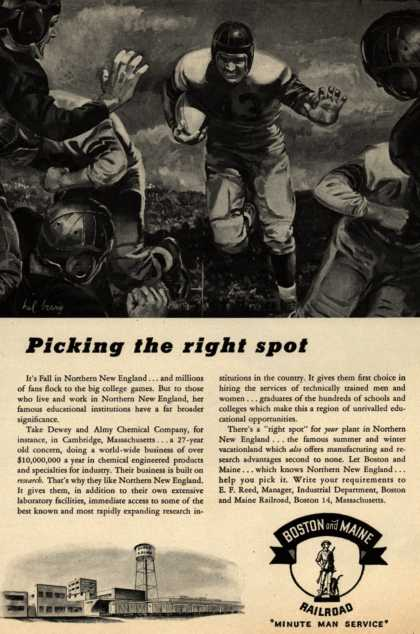 Boston and Maine Railroad's research institutions – Picking the right spot (1946)