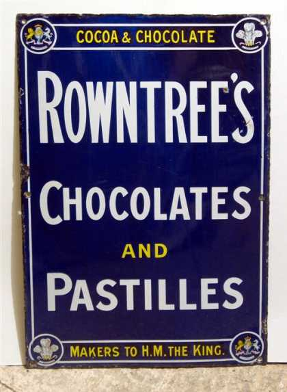 Rowntree's Chcolates & Pastilles Enamel Sign
