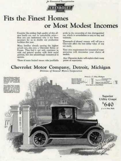 Chevrolet Collectible Antique Car (1924)