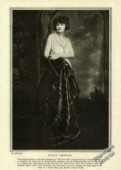 Doris Kenyon Photo Antique Theatre Print Feature (1921)