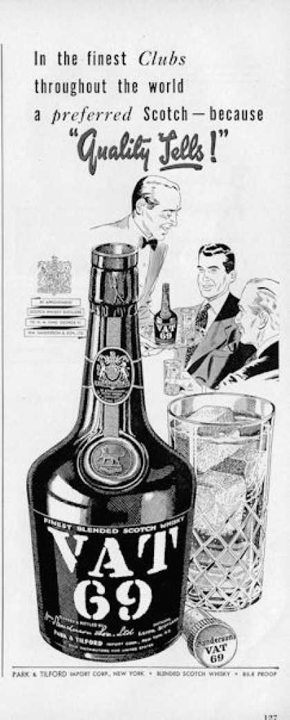 Vat 69 Scotch Whisky (1950)