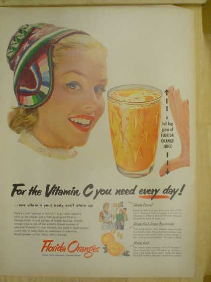 Florida Oranges for the vitamin C you need every day (1953)