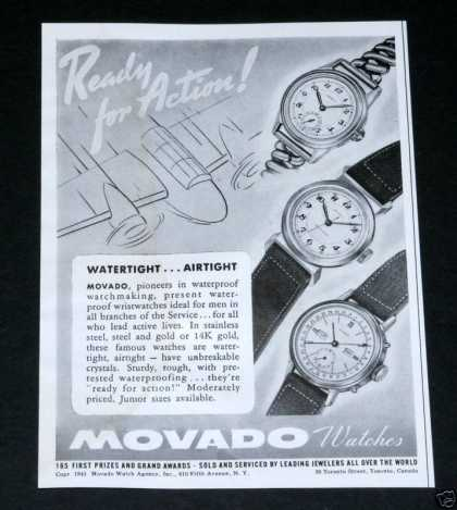 Movado Watches, Ready for Action (1941)