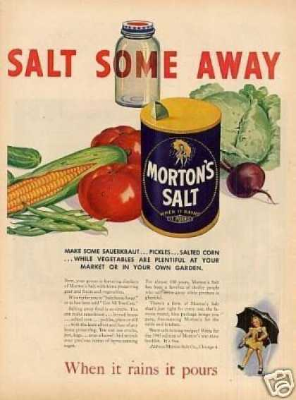 "Morton's Salt Ad ""Salt Some Away... (1945)"