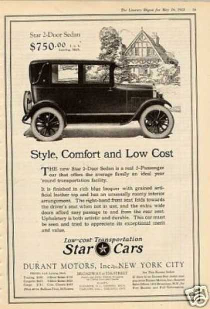 Durant Motors Star 2-door Sedan (1925)
