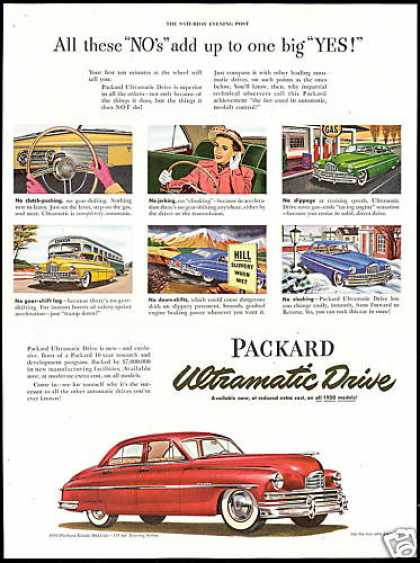Packard Eight Deluxe Car Vintage (1950)