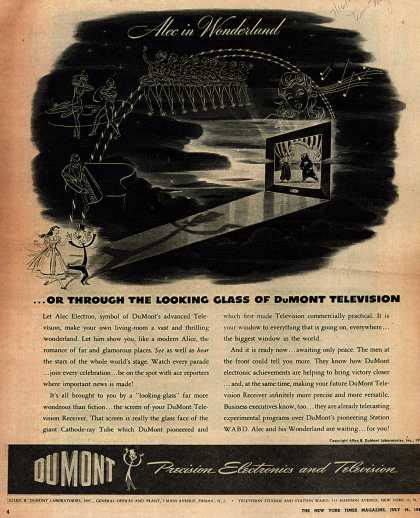 Allen B. DuMont Laboratorie's Television – Alice in Wonderland... or Through The Looking Glass of DuMont Television (1944)