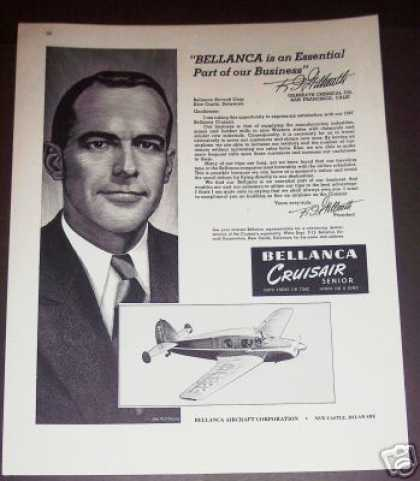Bellanca Cruisair Senior Plane Airplane (1947)