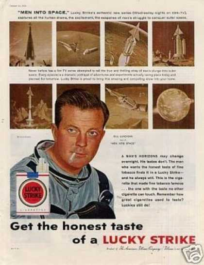 Lucky Strike Cigarettes Ad Bill Lundigan (1959)