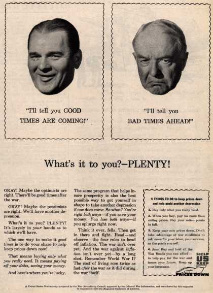 War Advertising Council's Anti-inflation – What's it to you? – Plenty (1945)