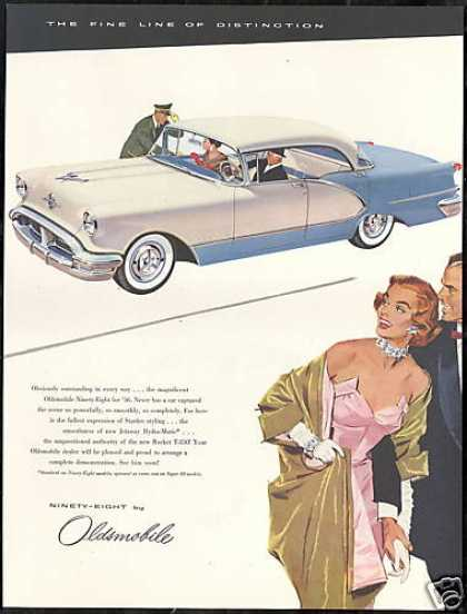 Oldsmobile Ninety Eight 98 Car Vintage (1956)