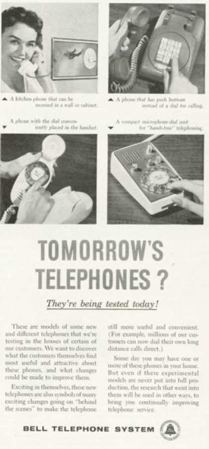 Bell Telephone System Tommorrows Phone Ad Push (1959)