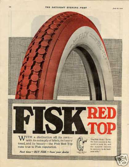 Fisk Red Top Tire (1920)