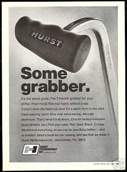 Car Hurst T Handle Velvet Shifter Grabber Photo (1969)
