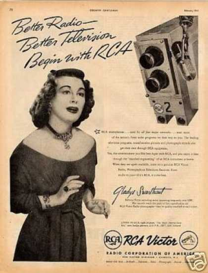 Rca Victor Ad Gladys Swarthout (1945)