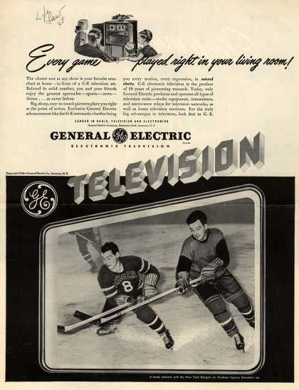 General Electric Company's Television – Every game played right in your living room (1948)