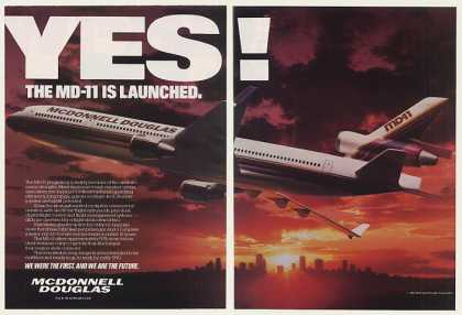 McDonnell Douglas MD-11 Aircraft Launched 2-Pg (1987)