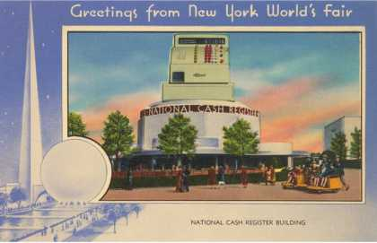 Greetings from New York World's Fair, National Cash Register Building