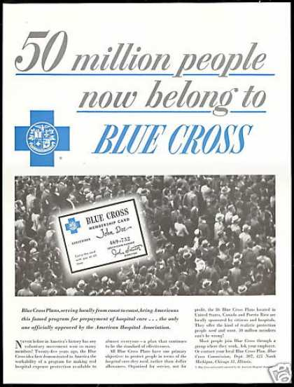 Blue Cross Membership Medical Coverage (1956)