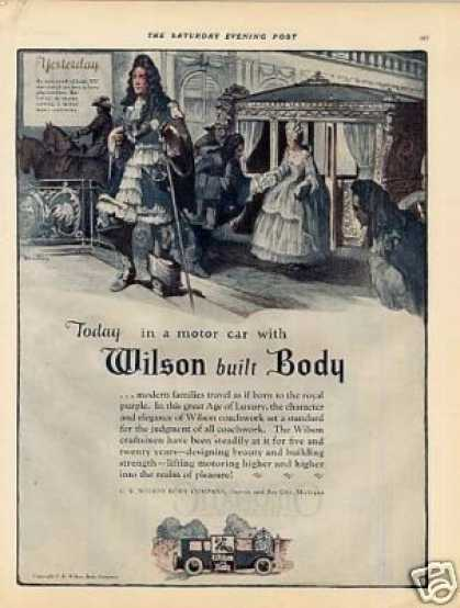 Wilson Motor Car Body Color (1924)