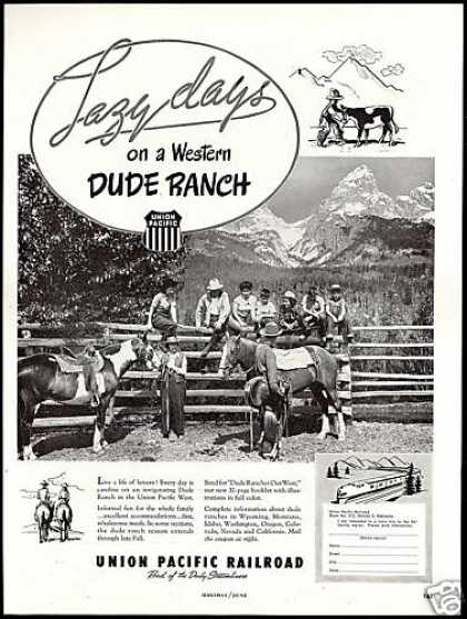 Dude Ranch Photo Union Pacific Railroad Train (1948)