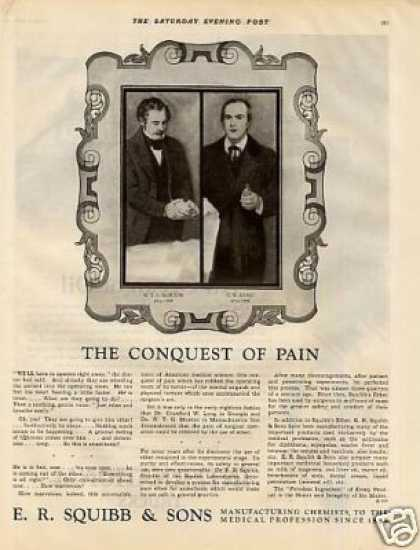 "E.r. Squibb & Sons Ad ""The Conquest of Pain... (1928)"