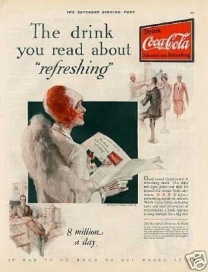"Coca-cola Color Ad ""The Drink You Read... (1928)"