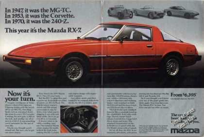 Mazda Rx-7 Impressive 2 Pg Collectible (1978)