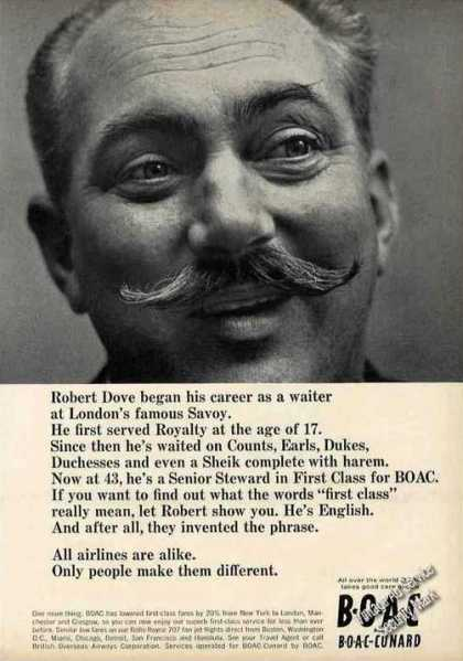 "Boac ""People Make Them Different"" Robert Dove (1964)"