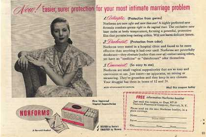 Norform's Vaginal Suppositories (1953)