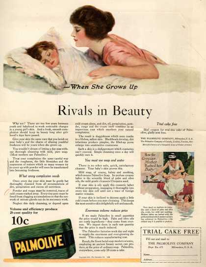 Palmolive Company's Palmolive Soap – When She Grows Up Rivals in Beauty (1921)