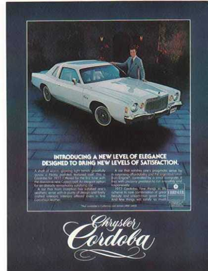 Chrysler Car – Cordoba / White with Ricardo Montabon – Sold (1977)