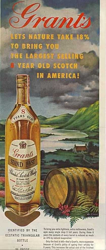 Grant's 8 year old Stand Fast Blended Scotch Whisky (1960)