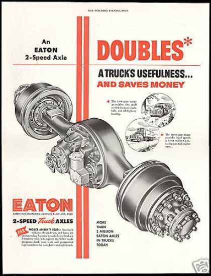 Eaton 2 Speed Truck Axles Vintage (1954)