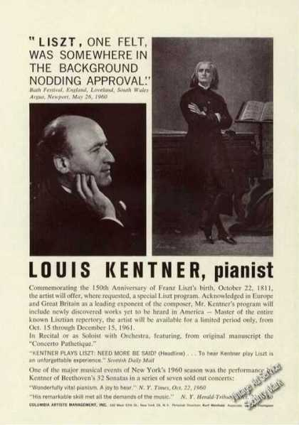Louis Kentner Photo Piano Trade (1961)
