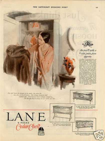 Lane Cedar Chest Ad 2 Page (1926)