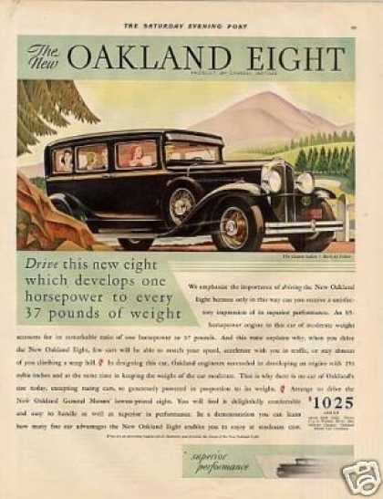 Oakland Eight Custom Sedan Color (1930)