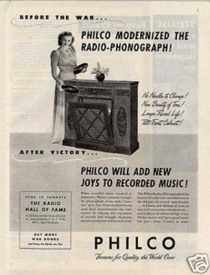 Philco Radio-phonograp (1944)