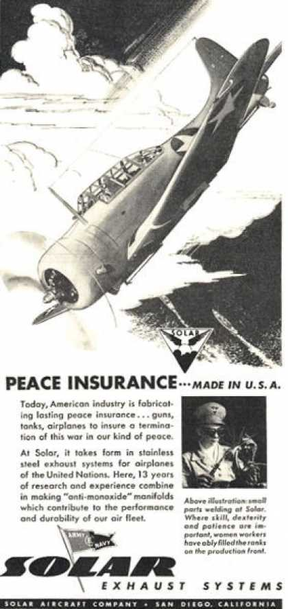 Solar Stainless Military Plane Exhaust (1949)