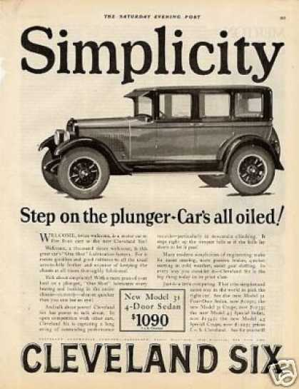 Cleveland Six 4-door Sedan Ad Model 31 (1926)