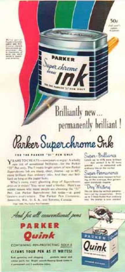 Parker Superchrome Ink (1948)