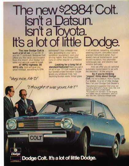 Dodge Car – Dodge Colt / Blue (1977)