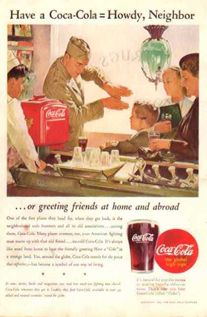 Coke – Howdy Neighbor – War Time Soda Fountain (1944)